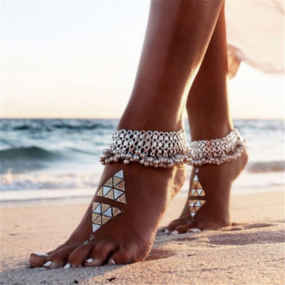 8bbbdf0e0 Women Sexy Vintage Anklet Chain Bell Beads Tassel Ankle Bracelet ...