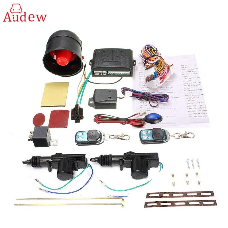 360 Degree Universal Car Remote Control Central Locking System Kit Car Security Alarm Immobiliser Shock Sensor