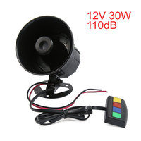 X Autohaux 12V 30W 4 Sound 110Db Tone Motorcycle Electric Car Truck Siren Loud Horn Speaker