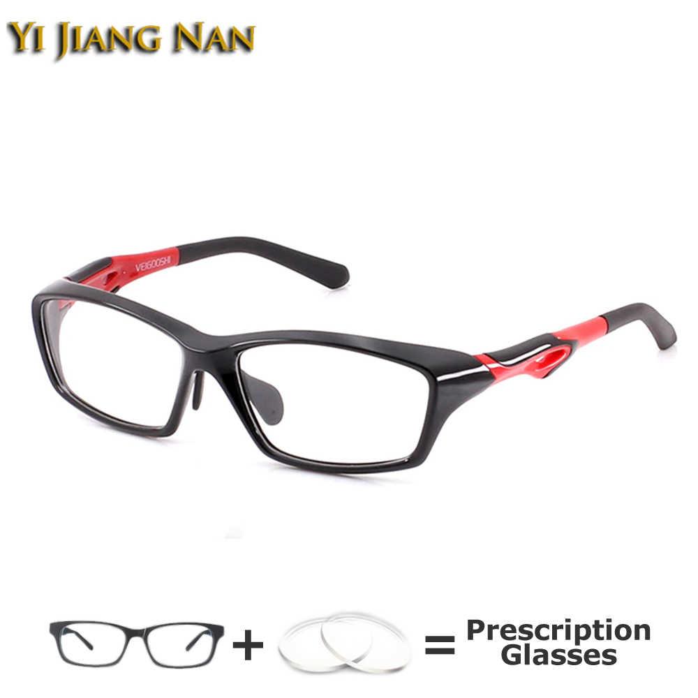 Marca masculina esportes armação completa óculos de basquete tr90 óculos de prescrição óptica para mulher largura 140