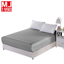 Фотография Home Textile 100% Polyester Sheets Stripe Mattress Cover Bed Sheet Solid Color Fitted Sheet Bedspread Twin Full Queen King Size