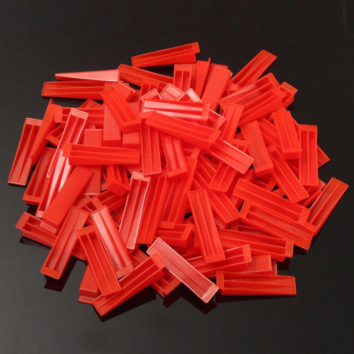 600 плитки выравнивание Системы-500 Зажимы + 100 клинья Пластик Распорки плитки Инструменты