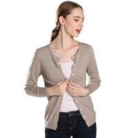 Hotlist Women 100 Cashmere O neck Seasons Cardigan Colors Womens Necessary Sweaters Allmatch 2018 Fall Winter Jacket Basic Style