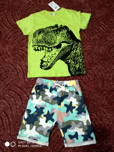 T-Shirts with Cartoon Dinosaur for Boys photo review