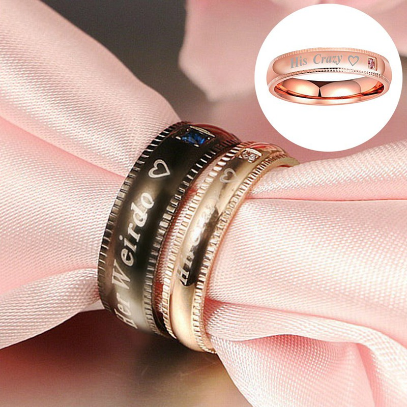 2018 New Fashion Couple Ring Wedding Band Anniversary Engagement Promise Ring Titanium Steel Ring