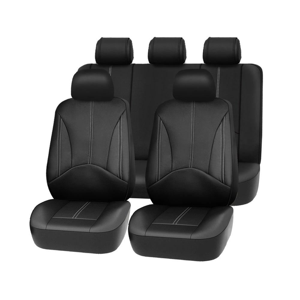 1 set Neue auto sitz abdeckung Pu leder material durch die sitz covers Schwarz universal auto sitz abdeckung für auto volvo für auto nissan