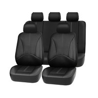 1set New car seat cover Pu leather material made by the seat covers Black universal car seat cover for car volvo for car nissan