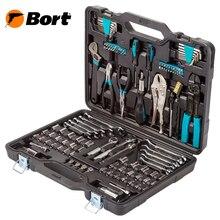 Набор ручного инструмента Bort BTK-123 (Набор из 123 предметов, выполненных и высококачественной стали в удобном кейсе)