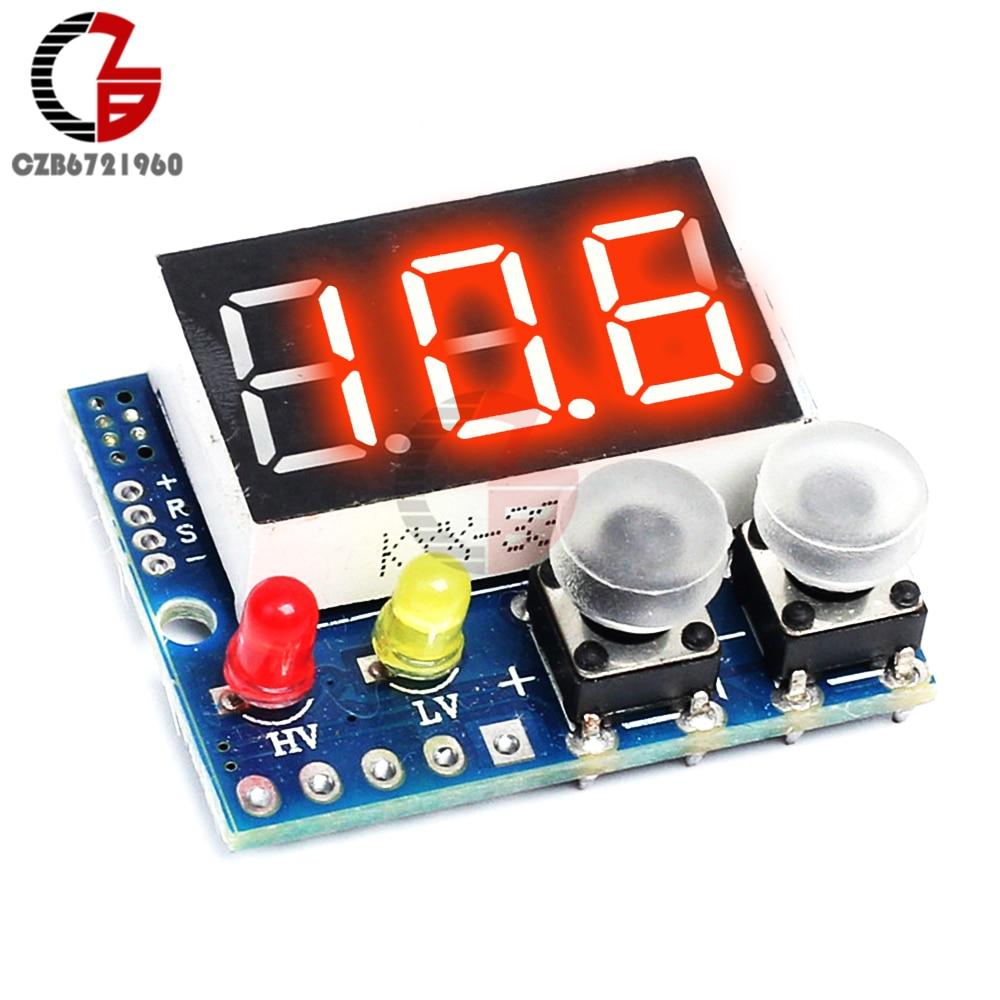DC 5V 12V 24V Red LED Panel Digital Voltmeter Voltage Meter Tester Detector Overvoltage Undervoltage Protection 0-99.9V вольтметр dc voltmeter dc 0 100 0 28 dc 12v 24v led voltmeter