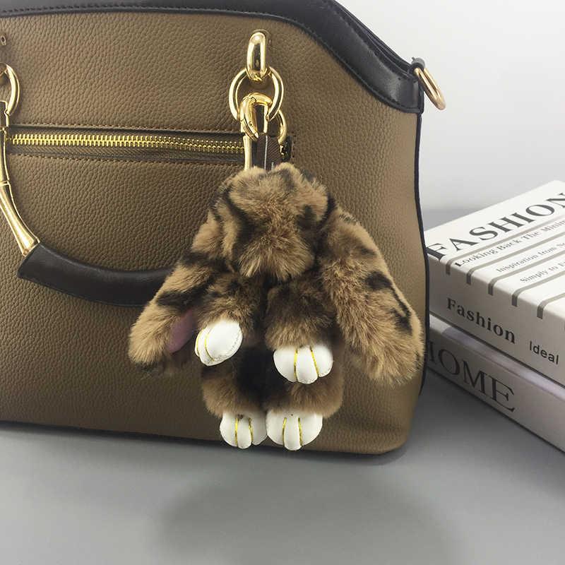 Mới Lông Thú Giả Thỏ Móc Khóa Mặt dây chuyền túi nữ chìa khóa xe ô tô hàng sang trọng phụ kiện đồ chơi ngày lễ Quà Tặng