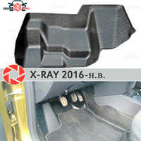 Almohadilla debajo de los pedales de gas para Lada x-ray 2016-2019 cubierta debajo de los pies accesorios de protección alfombra estilo de coche