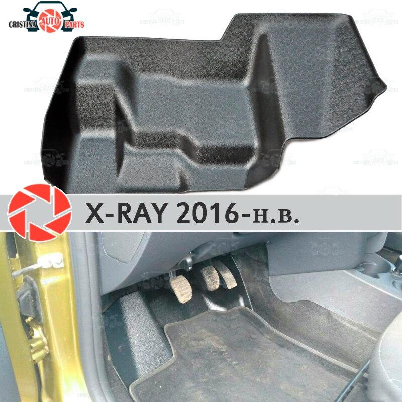 Pad תחת גז דוושות לאדה X-Ray 2016-2019 כיסוי תחת רגליים אביזרי הגנת קישוט שטיח רכב סטיילינג