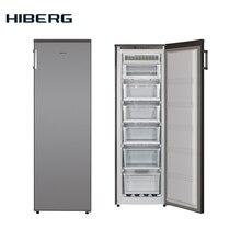 No Frost, 168 см, 213 литров, Морозильник HIBERG FR-25 NFS, класс А+, режим Суперзаморозка, Звуковая сигнализация открытой двери, заморозка до 15 кг/сутки