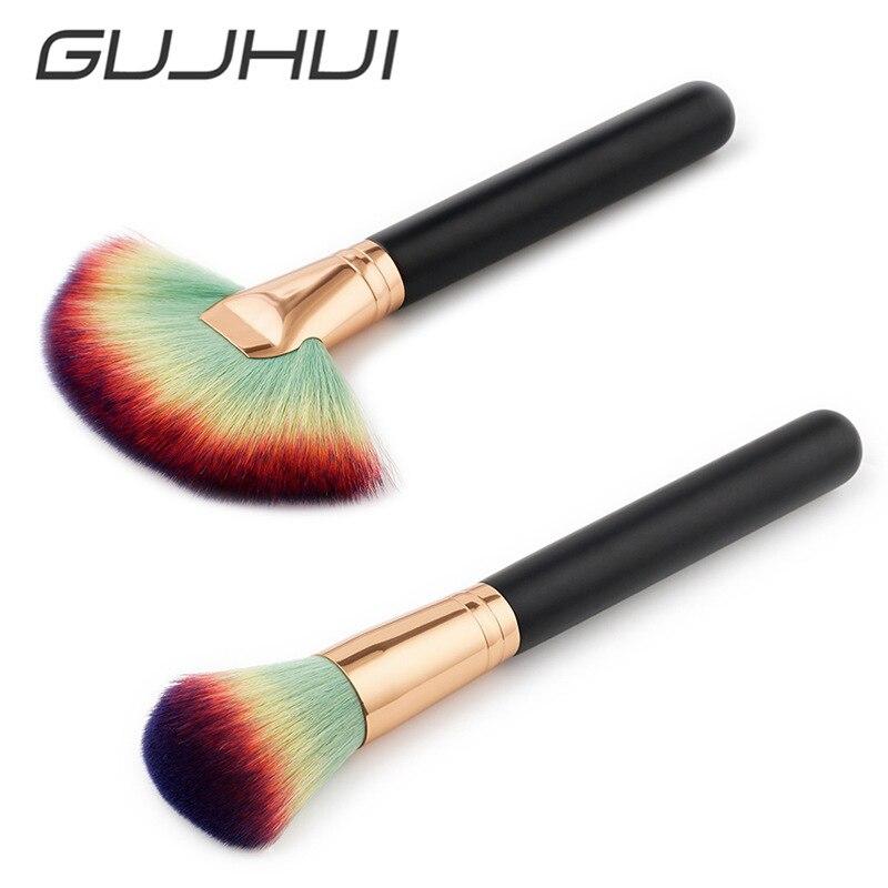 High Quality Soft Makeup Brush BB Cream Foundation Powder Blush Brushes Facial Fan Cosmetic Brush Make Up Beauty Tools #254713