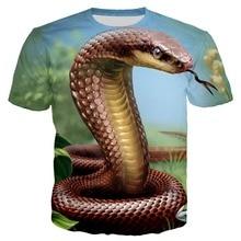 YX Girl 2019 New Cobra Snakes Unisex Tshirt Women Men Man Tshirts 3d Printed T-shirt Streetwear 7XL