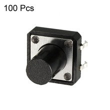 UXCELL 12x12x12mm Panel Momentary Switches 4-Pin PCB DIP Tactile Switch Tact Push Button Accessories 100PCS Supplies