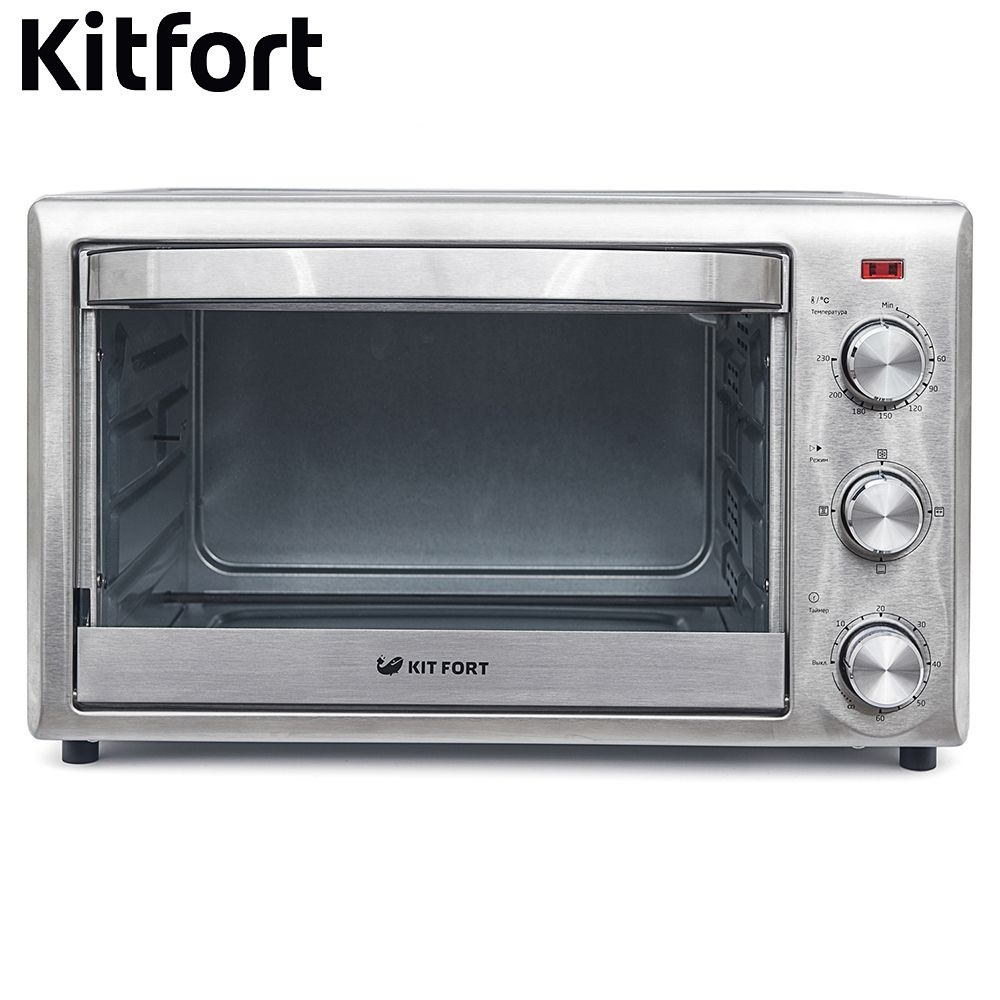Brass cabinet Electric Oven KITFORT KT-1702 Mini Oven Household appliances for kitchen Microwave oven Kitchen shipule stainless steel baking oven electric oven for making bread cake pizza with temperature control 220v