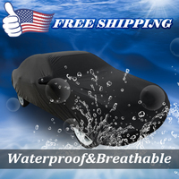 UXCELL Black Breathable Waterproof Car Cover W Mirror Pocket 3L 4700