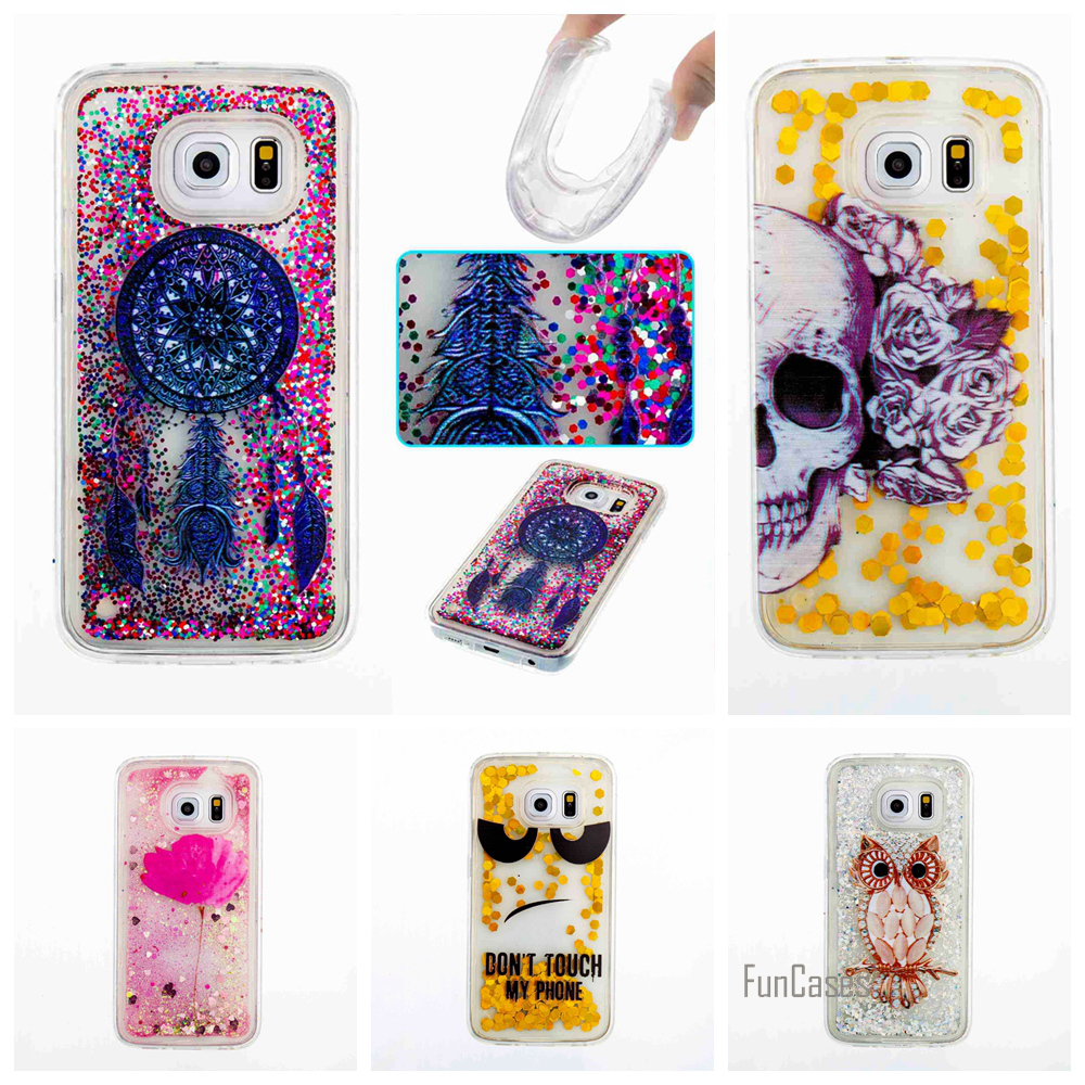 Coque Wind Chimes Quicksand Back Cover For Samsung Galaxy J3 A3 J5 2016 A5 2017 Phone Case For Samsung S7 Edge S6 G360 G530 Capa