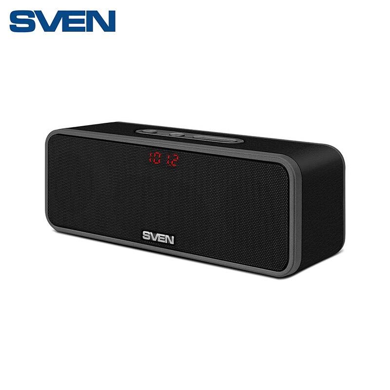 Купить со скидкой Портативная акустика АС SVEN PS-170BL, черный (10 Вт, Bluetooth, FM, microSD, LED-дисплей, 2000мА*ч)