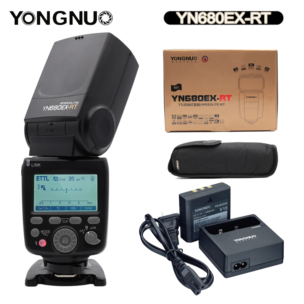 YONGNUO Flash Speedlite YN680EX-RT Lithium 2.4G GN60 Wireless 1/8000s HSS TTL Flash Speedlite for Canon Cameras Speedlite цена