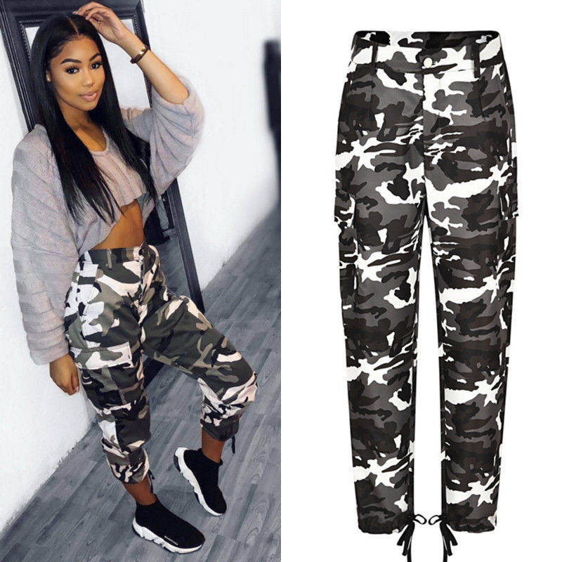 Summer Camouflage Pants Camo Cargo Trousers Pants Casual Pants Military Army Combat Camouflage Jeans Pencil Pants Pink Red Gray (15)