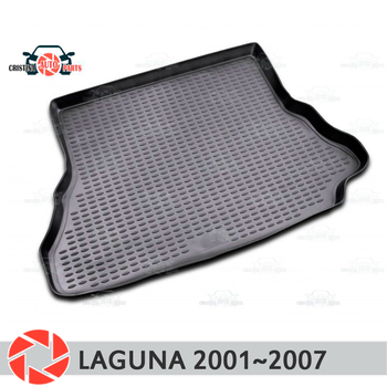 Trunk mat for Renault Laguna 2001~2007 trunk floor rugs non slip polyurethane dirt protection interior trunk car styling фото