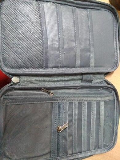 Porte Passeport Familial - Organisateur de Voyage - Gris photo review