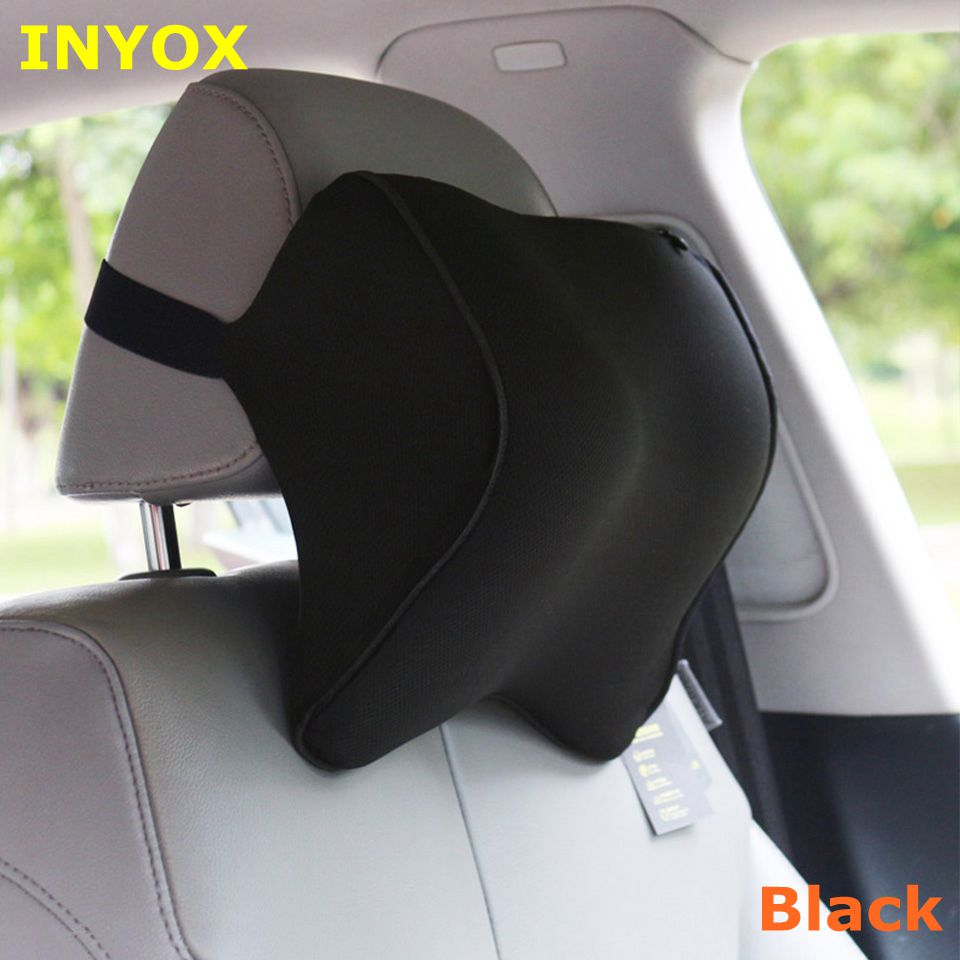 S1 Headrest Car Neck Pillow Seat lumbar Pillow in auto back Head rest Memory Foam Fabric For chair Travel Support Cushion covers loen 1set of leather memory foam car seat support cover lumbar back cushion office chair lumbar support headrest neck pillow