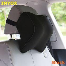 S1 encosto de cabeça do carro pescoço travesseiro assento lombar travesseiro em auto encosto de cabeça memória espuma tecido para cadeira de viagem apoio coxim cobre