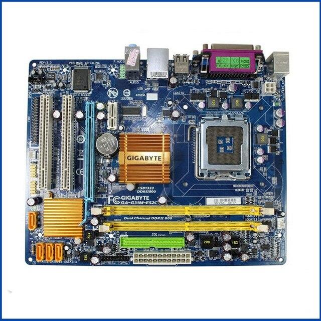 Placa mãe g31 original para gigabyte GA G31M ES2C G31M ES2C, ddr2 lga775, placa de mesa integrada G31M ES2C