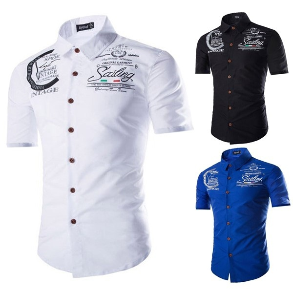 2018 Brand Clothing Men's shirt Fitness Casual For Male S-2XL Free Shipping