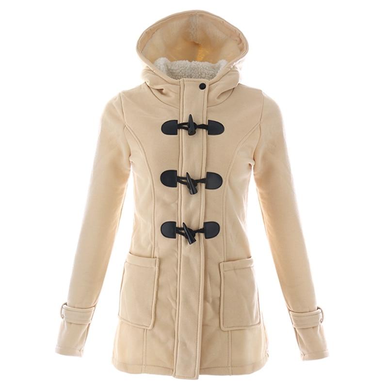 UTB8gylojDzIXKJkSafVq6yWgXXaH Women Causal Coat 2018 New Spring Autumn Women Overcoat Hooded Coat Zipper  Button Outwear Jacket Casaco Feminino Plus Sizes