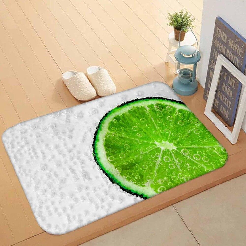 Else White Floor Slices Of Green Lemon Balloons 3d Pattern Print Anti Slip Washable Doormat Home Decor Entryway Kitchen Mat