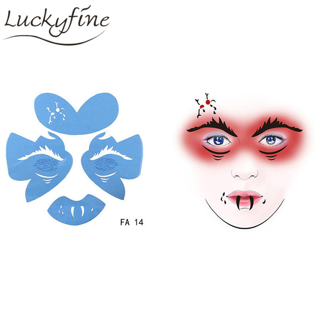 Soft Face Paint Stencil Reusable Body Tattoo Template Animal ...
