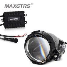 """Универсальный 2,5 дюймов 2,"""" Авто Би-светодиодный проектор линзы фары 55 Вт 6000 К Высокий Низкий Луч авто светодиодный светильник для автомобиля модифицированные автозапчасти"""