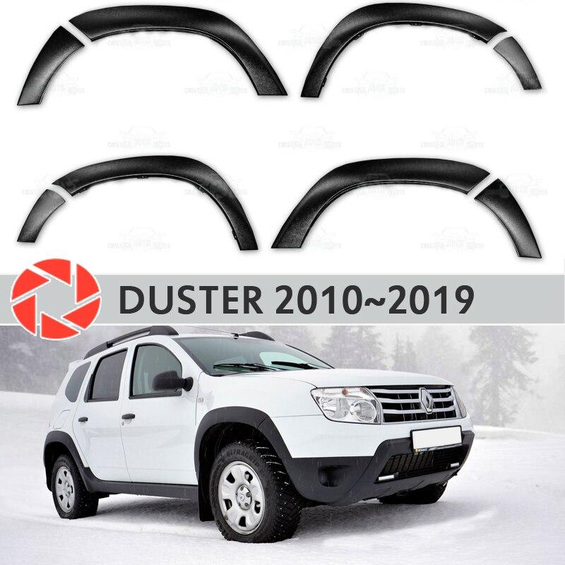Guardabarros de arcos de rueda para Renault Duster 2010-2018 accesorios de ajuste accesorios de protección decoración exterior de coches estilo