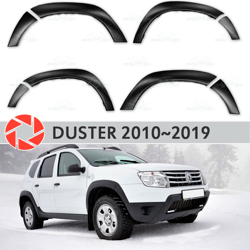 Wheel arches fenders for Renault Duster 2010-2018 fendors trim accessories protection decoration exterior car styling 4pcs 146mm wheel center hub caps rims cover 6 holes car emblem car badge for audi fit for tt 8n0601165a free shipping