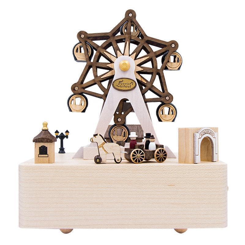 Muziekdoosje accessoires De décoration De maison Caixa De Presente Muziek bois Musica carrousel caja Boite à Musique Boite à Musique