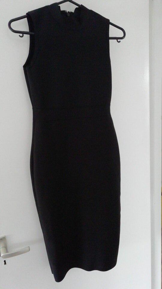 Midi Women Bandage Party Summer Dress Fashion Turtleneck Sleeveless Bodycon Dress Vestidos Wholesale photo review