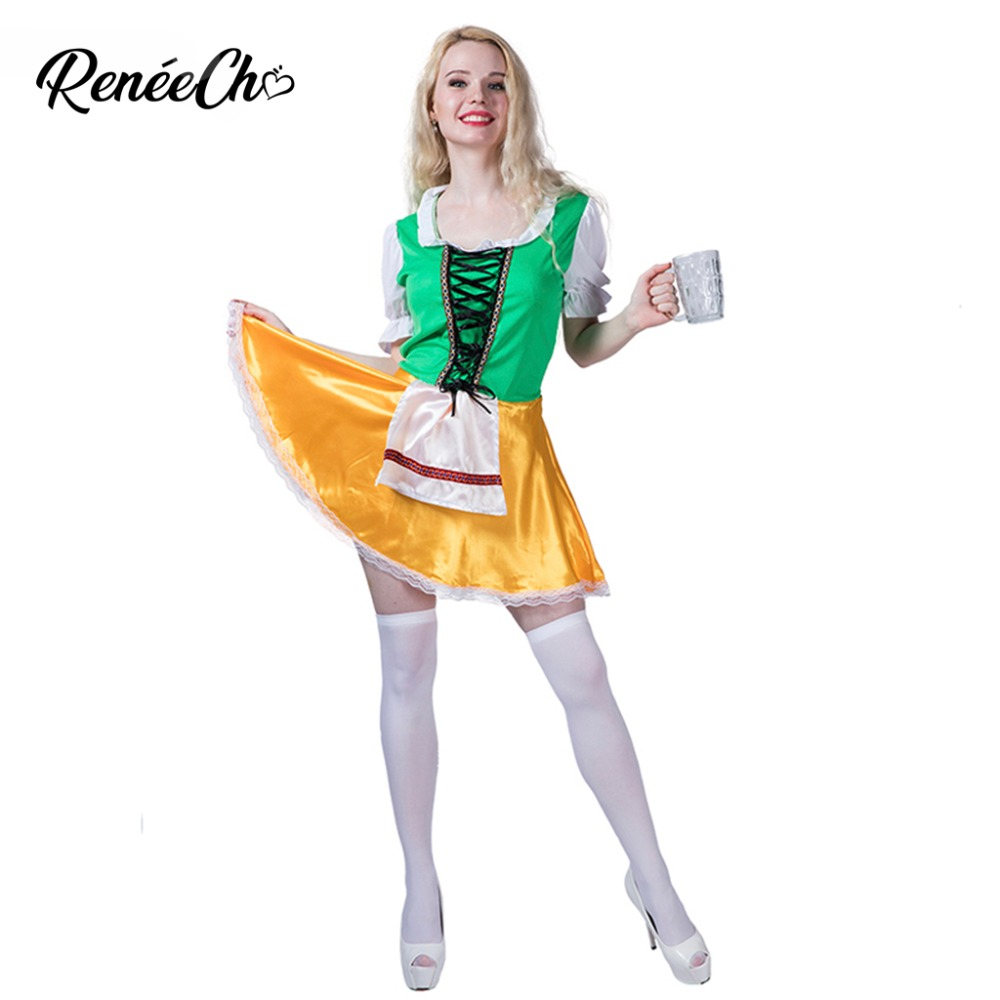 Halloween Costume For Women Oktoberfest Beauty Costume Lady Swiss German Beer Girl Costume 2018 New Sexy Waitress Cosplay