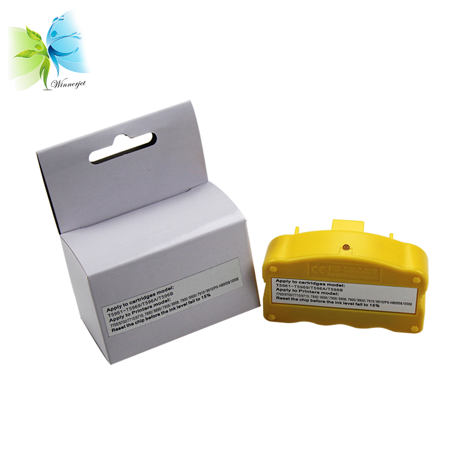 Winnerjet 2 pieces Chip Resetter for Epson Stylus Pro 7900 9900 printer for T5961 T5969 T596A T596B T6361 T6369 T636A T636B in Printer Parts from Computer Office