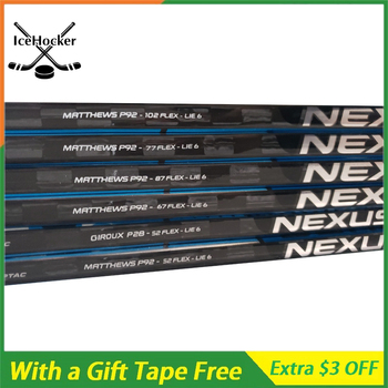 Fibra de carbono Hockey sobre hielo palo N Serie 2 con cinta gratis con agarre SR/INT/JR P92 P88 P28 peso ligero 420g envío gratis