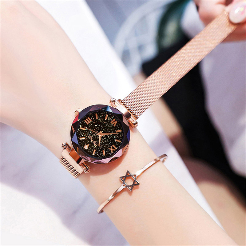 Luxury Women Watches Magnetic Starry Sky Female Clock Quartz Wristwatch Fashion Ladies Wrist Watch reloj mujer relogio feminino (4)