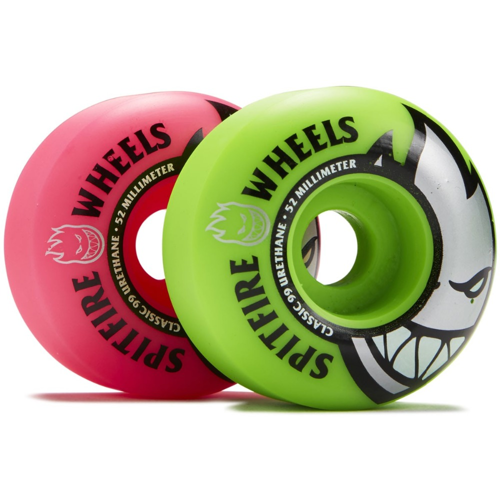 Image 2 - Freeshipping Original Spitfire Wheels Bighead Classic Mashup Neon Pink / Green Skateboard Wheels   54mm 99a (Set of 4)-in Skate Board from Sports & Entertainment