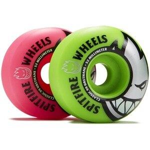 Image 2 - Freeshipping Original Spitfire Wheels Bighead Classic Mashup Neon Pink / Green Skateboard Wheels   54mm 99a (Set of 4)