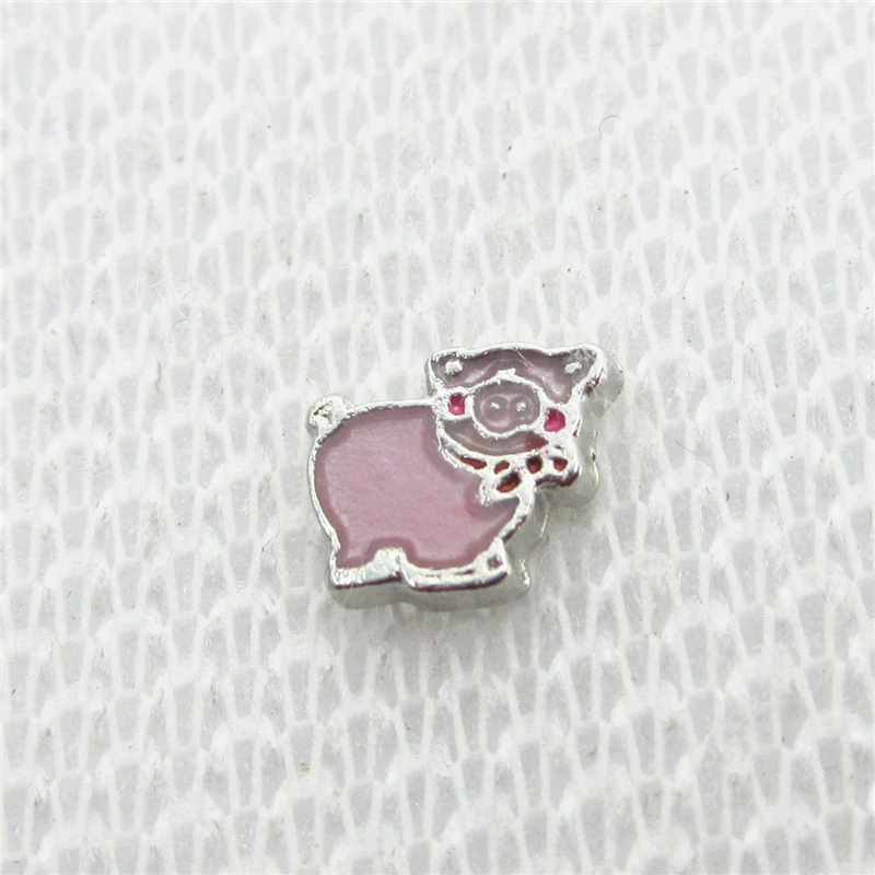 Hot Selling 20pcs/lot Silver Pig Football Helmet Floating Charms Living Glass Memory Lockets DIY Jewelry Charms