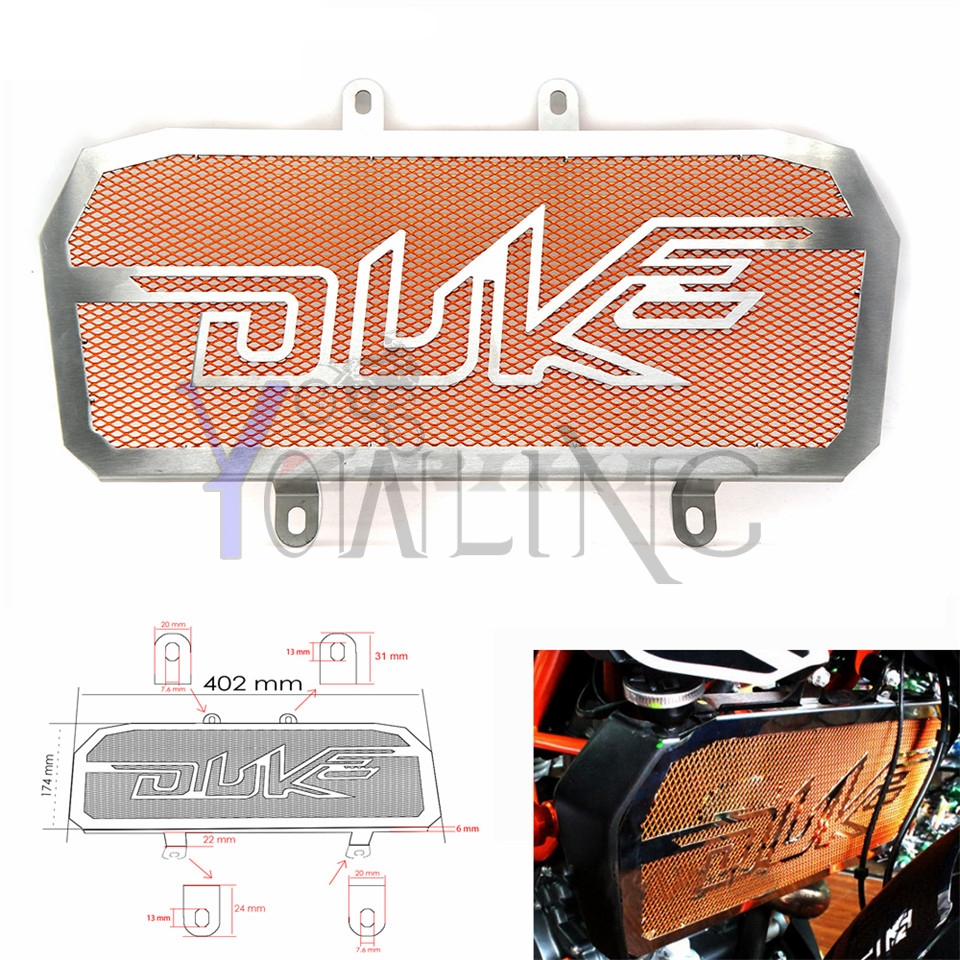 For KTM Duke 200 300  Motorcycle Motorbike Stainless Radiator Bezel Guard Cover Grille Protector Net For KTM DUKE 300 2013-2015 for kawasaki z900 2017 motorcycle radiator guard gloss stainless steel grille bezel radiator net protective cover