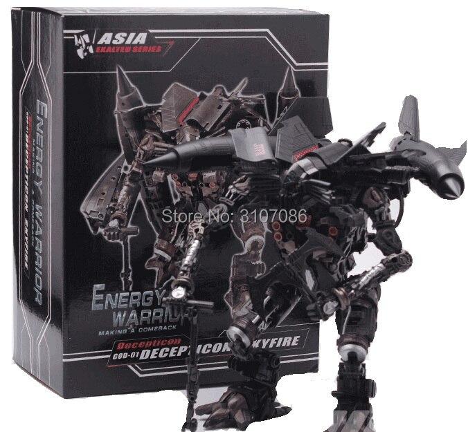Oyuncaklar ve Hobi Ürünleri'ten Aksiyon ve Oyuncak Figürleri'de Dönüşüm Jetfire Skyfire Film GOD01 Lider Japonya Metal Kaplama Edition Aksiyon Figürü robot oyuncaklar'da  Grup 1