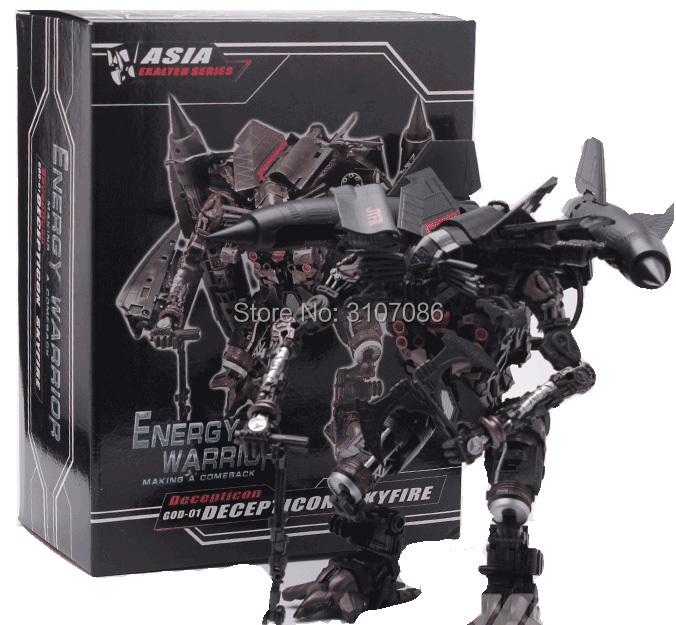 Transformation Jetfire Skyfire film GOD01 Leader japon revêtement métallique édition figurine Robot jouets-in Jeux d'action et figurines from Jeux et loisirs    1
